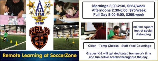 Remote Learning at SoccerZone